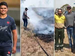 NRL star fights NSW bushfires as Tigers close in