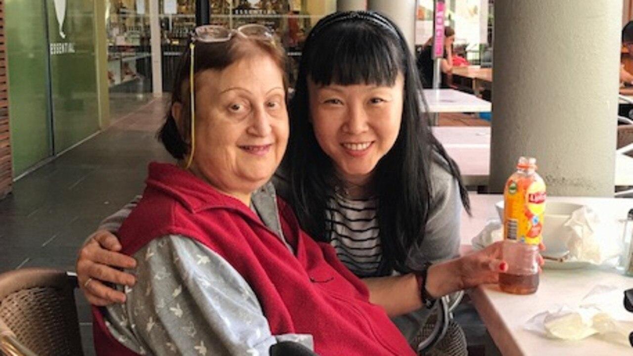 BIT OF HEART: Avalon resident Alkisti Boreto with Kim Kim.
