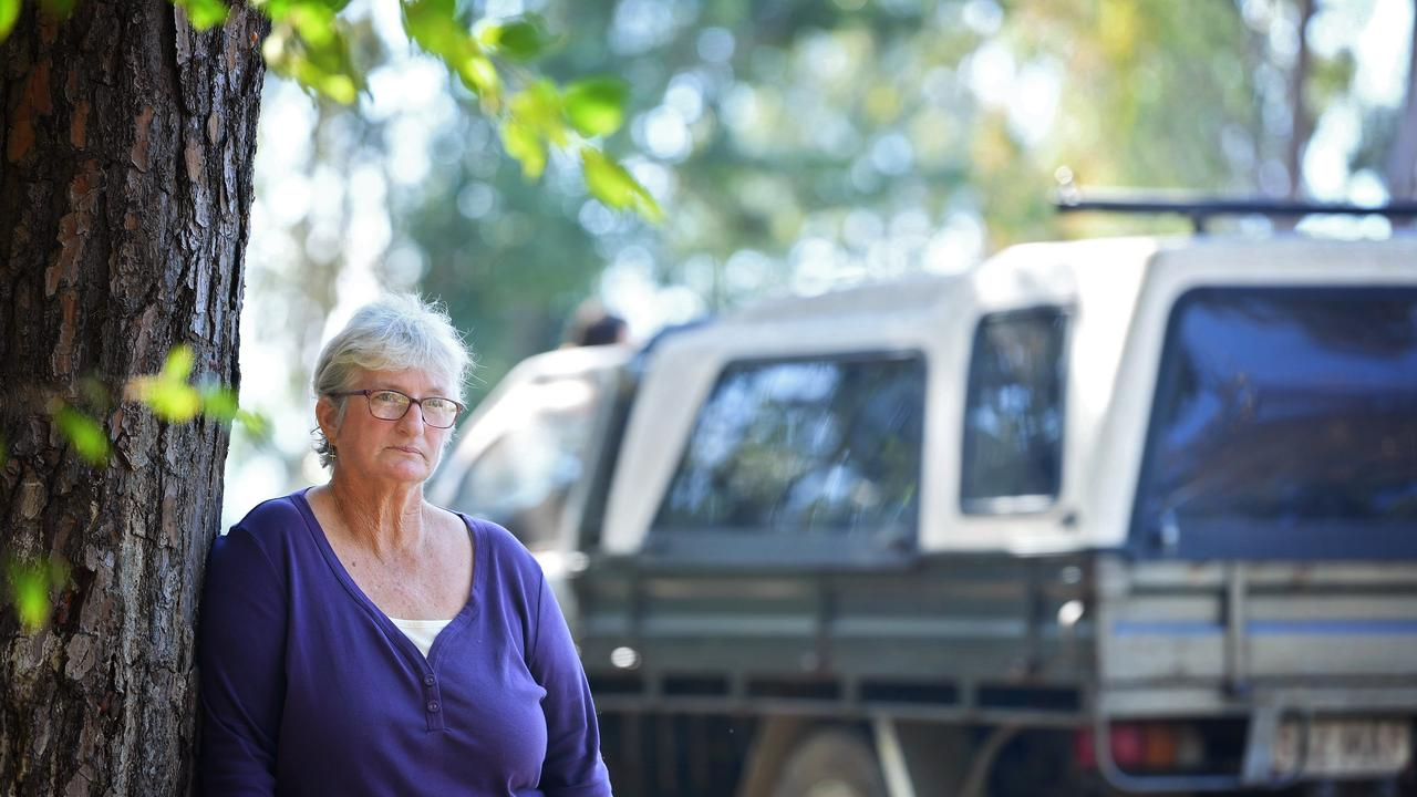 Homeless lady Gale Morgan from the Six Mile Camping ground in Gympie.