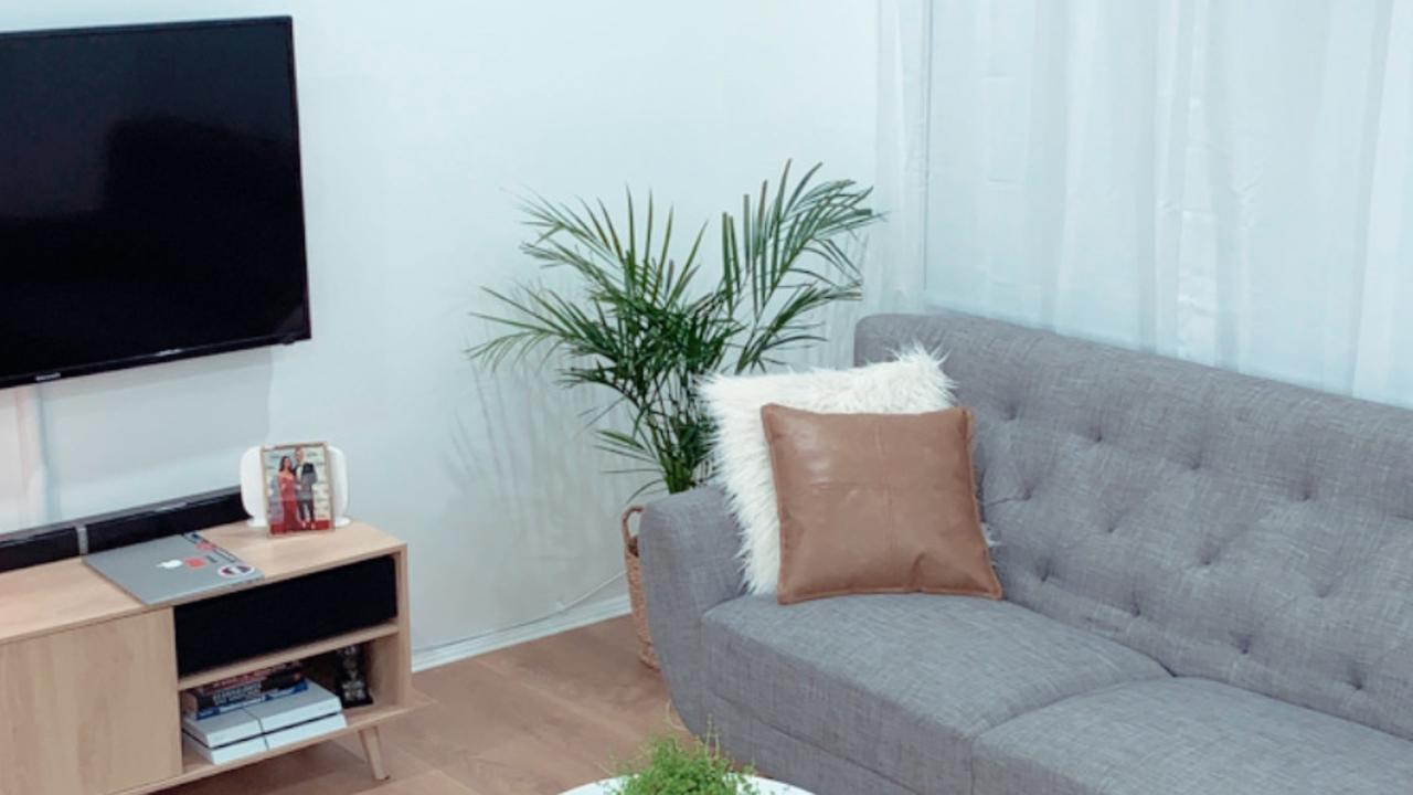 Couple's 'amazing' $1k lounge room makeover. Picture: Supplied