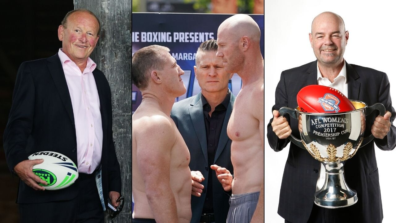 Paul Gallen takes on Barry Hall in boxing's Code War.