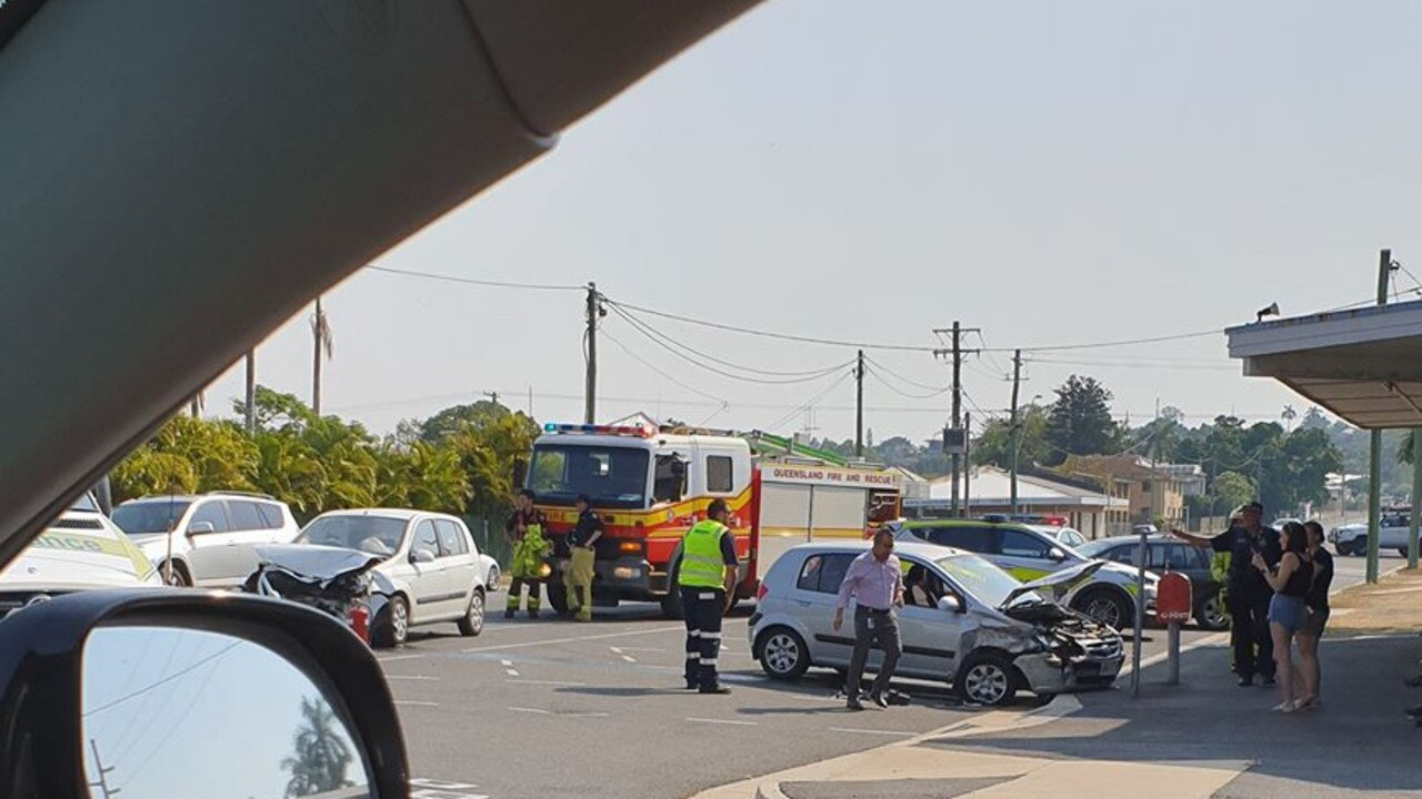 Three vehicles were involved in a crash this afternoon.