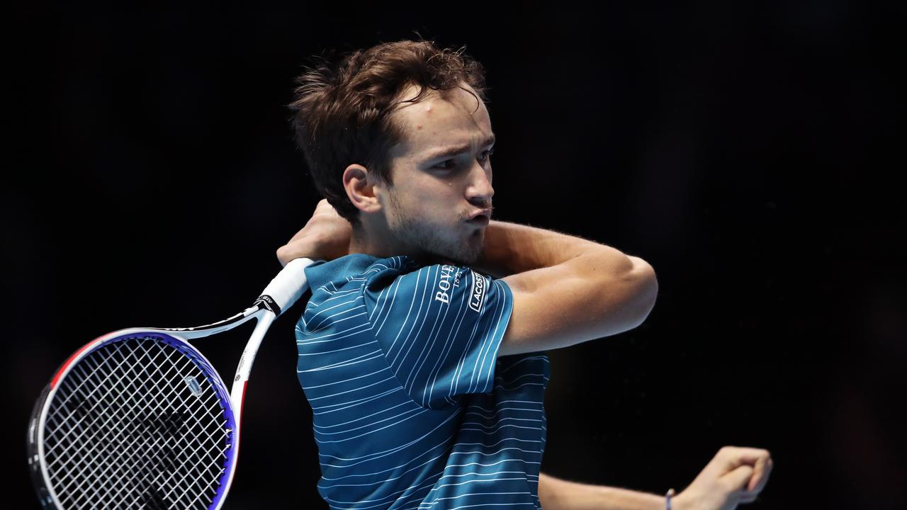 Daniil Medvedev blew a 5-1 lead in the deciding set, and twice served for the match. Picture: Getty