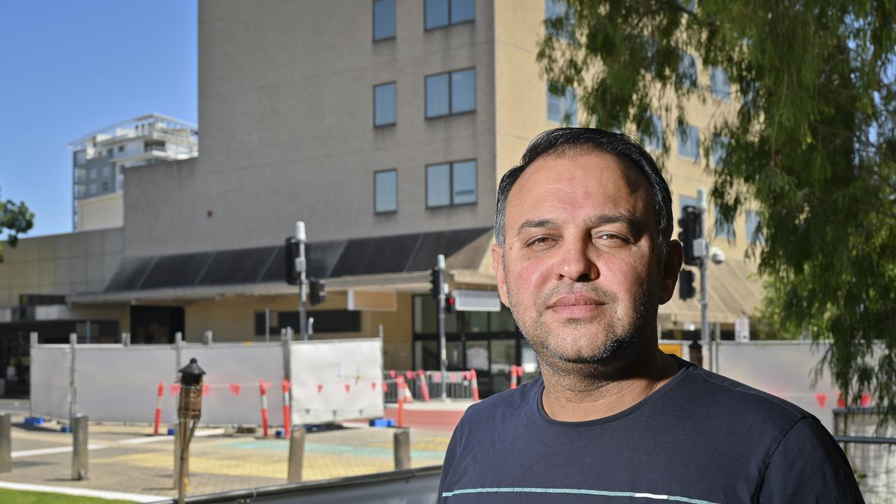 "Indian Mehfil owner Rajesh Sharma. The restaurant will be forced to close for two months due the kitchen floor of the Ipswich City Council owned building ""collapsing"". Picture: Cordell Richardson"