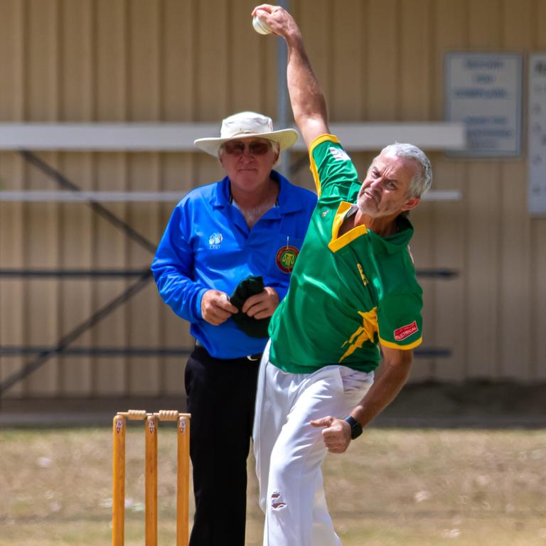 Gympie Regional Cricket Association - Wests v Colts - Wests Rod Cartwright.