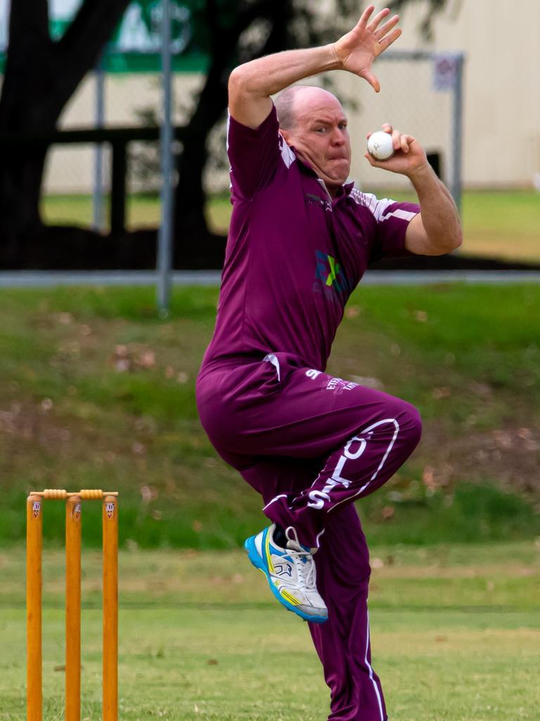 Gympie Regional Cricket Association - Colts v Murgon - Colts spinner Andrew 'Chappy' Mallett.