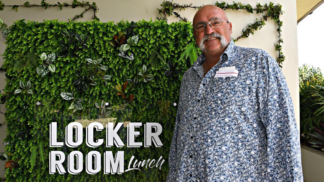 AT THE LOCKER ROOM LUNCH: Former fast bowler Merv Hughes. Picture: Warren Lynam