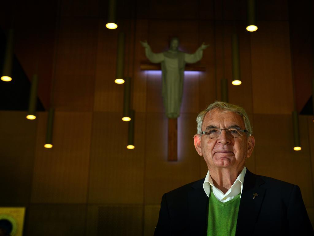 Fr Joe Duffy at Stella Maris Church in Maroochydore. He will retire aged 78.