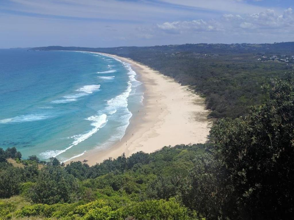 Mr Hayez would have had to walk through thick scrub at Arakwal National Park, which is absolutely pitch black at night, to get to Tallow Beach. Picture: Google