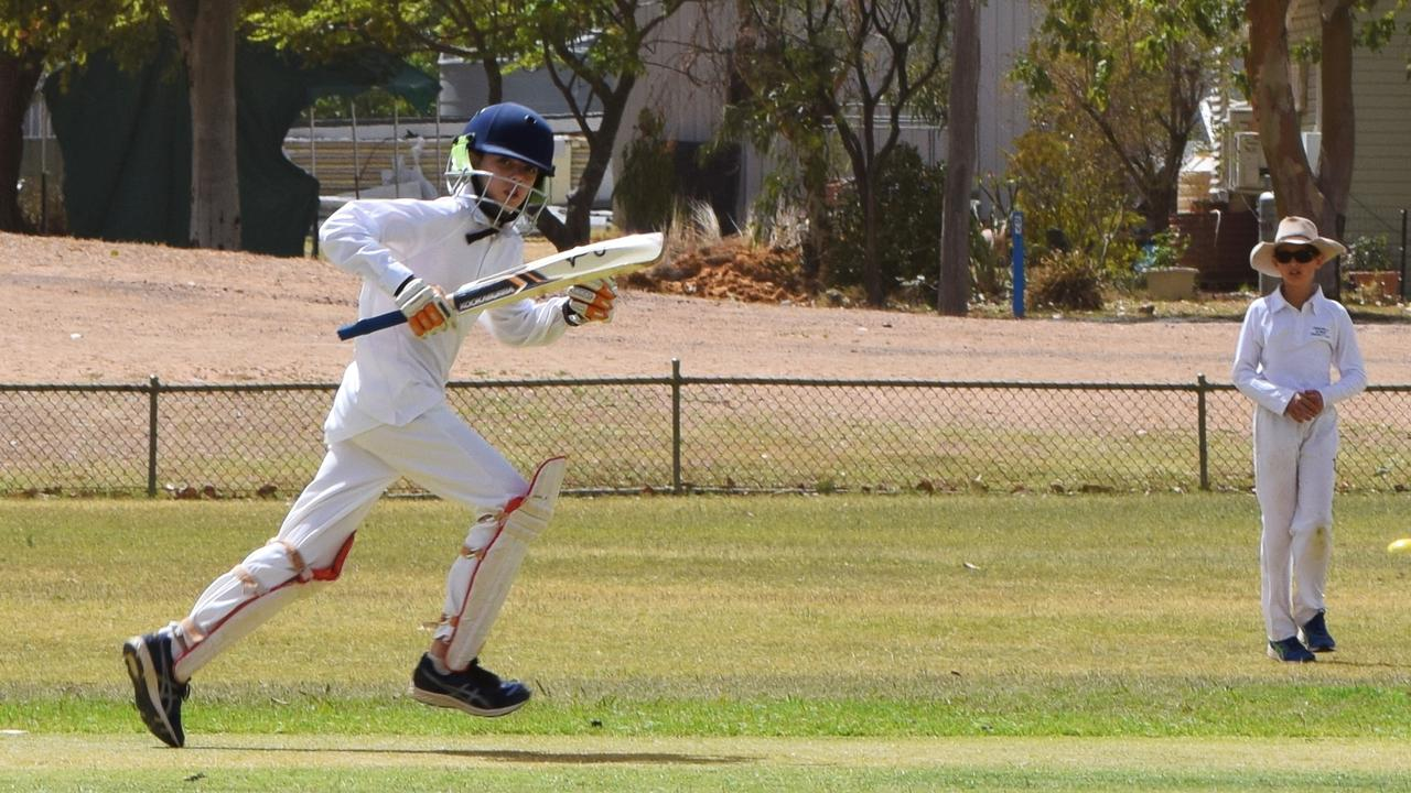 BATTER UP: Mitchel Kennick races to his crease. Pic: Peta McEachern