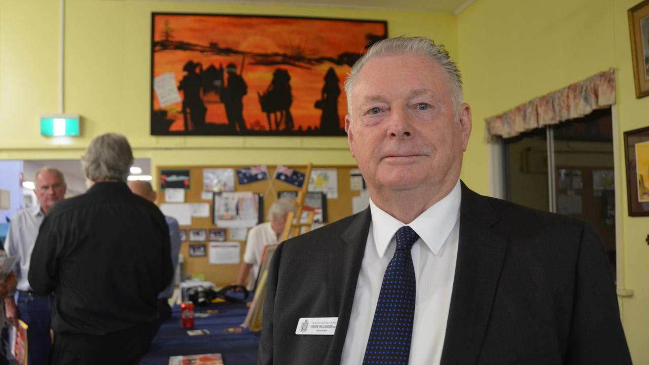 JOBS FOR VETS: RSL Wide Bay and Burnett Branch President Trevor Williamson OAM at the Gayndah RSL. Credit: Sam Turner