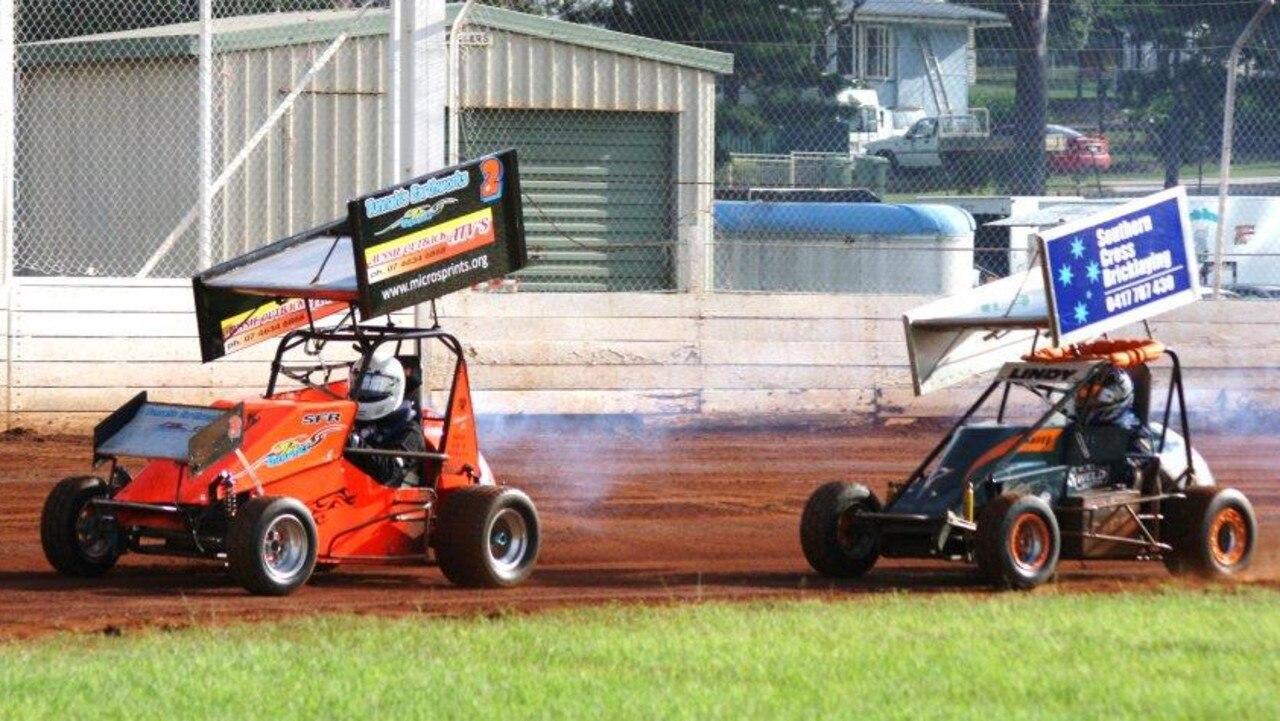 Compact speedcars at Gatton Speedway