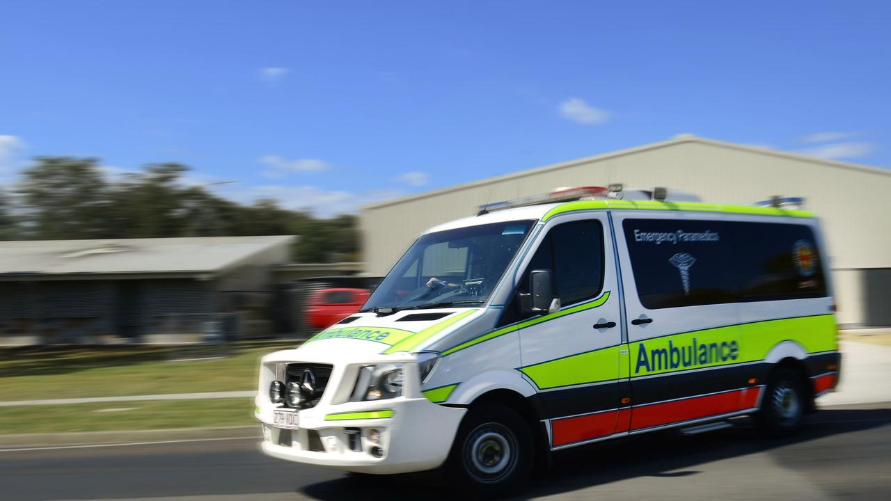 Paramedics are on the scene of a two-vehicle crash in Mackay.