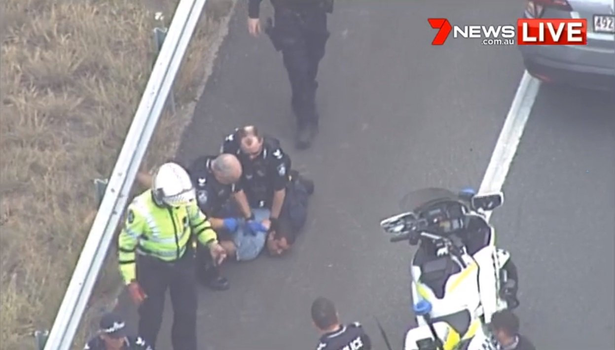 CRASH: People have been arrested after a crash on the Bruce Highway.