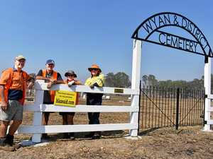 Protecting Wyan Cemetery with new fence after the fires