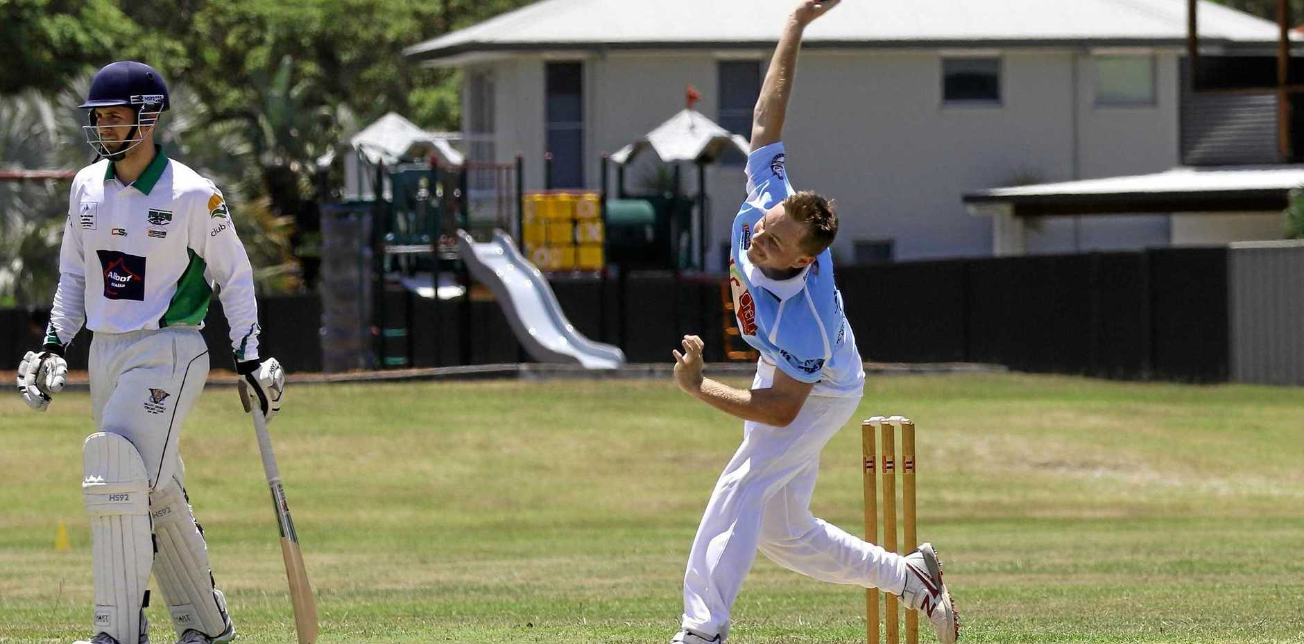 PACE THREAT: Ryan Lee in action for Ballina Bears in Far North Coast LJ Hooker League cricket last season. Lee is now back with his junior club Marist Brothers.