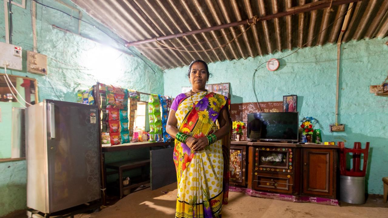 Mumbai shopkeeper Shevamta Prakesh Umbarsade in her family home. Picture: Cameron Laird