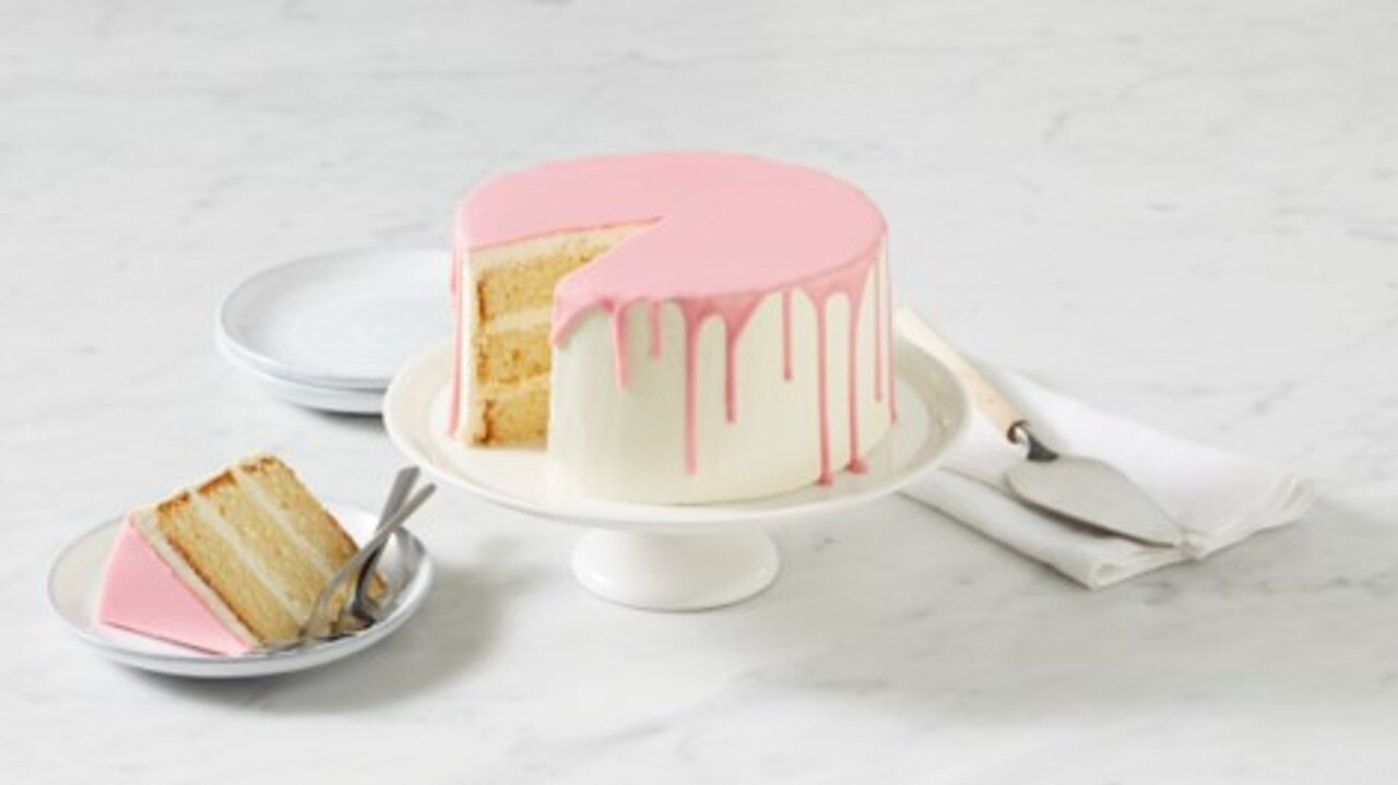 Coles Pink Vanilla Drip Cake received an award.