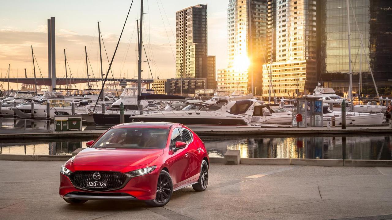The 2019 model Mazda3.