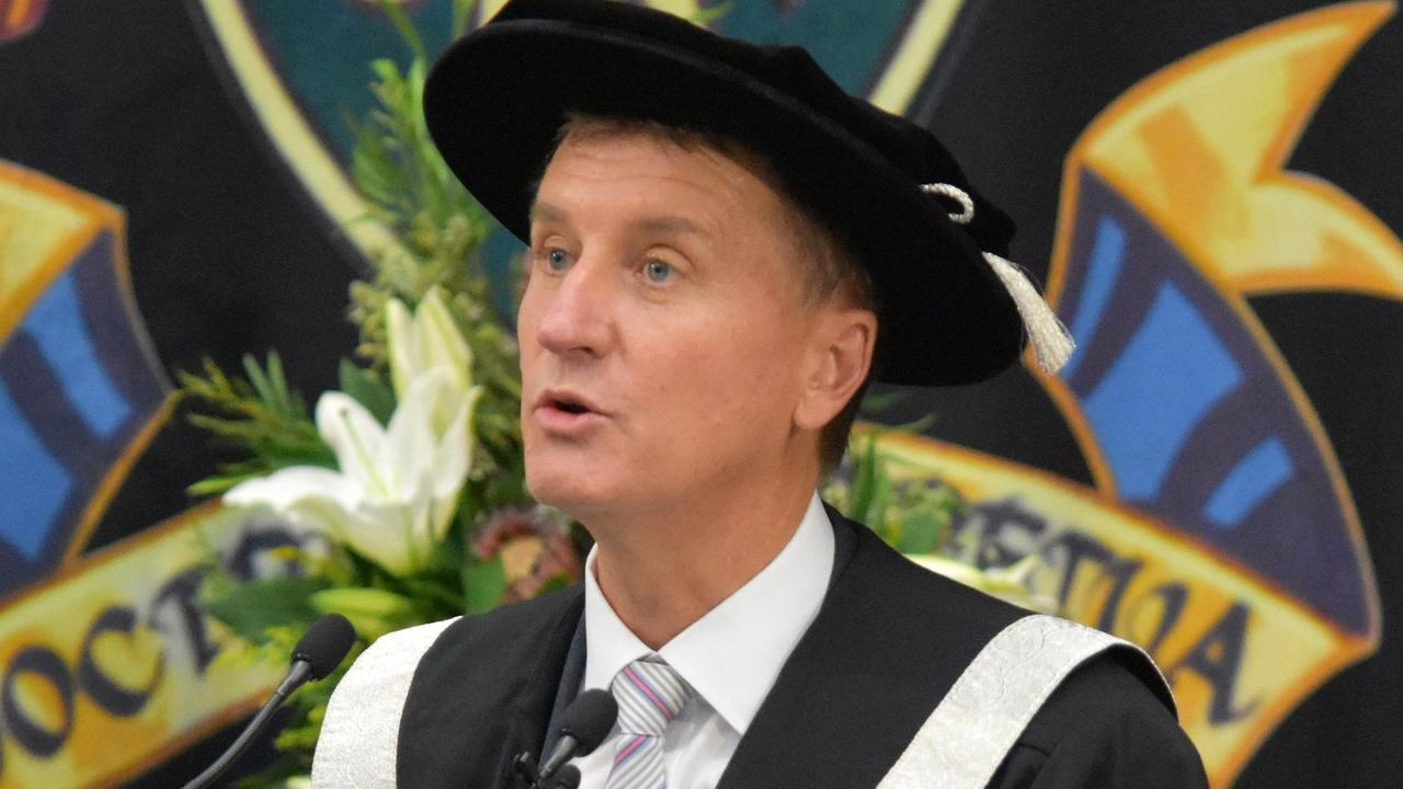 CQUni Vice-Chancellor Professor Nick Klomp at his installation ceremony earlier this year