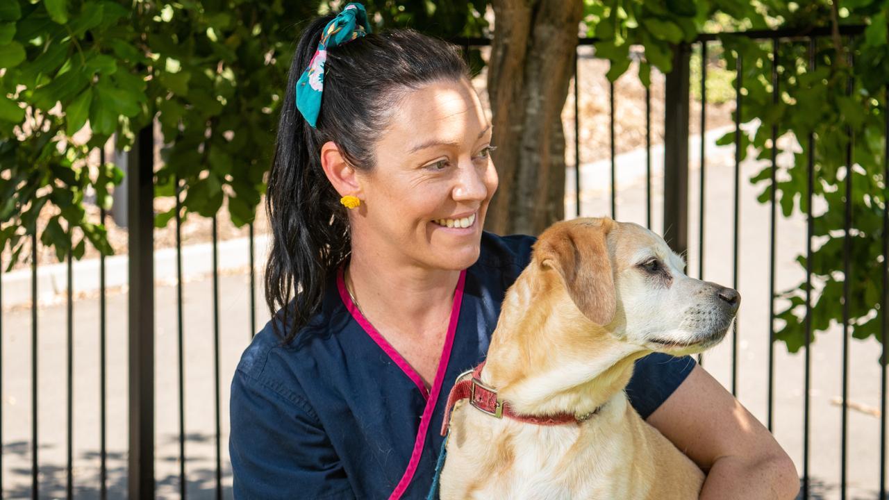 TOP STUDENT: University of Queensland student vet nurse Martina Smith. PHOTO: Ali Kuchel.
