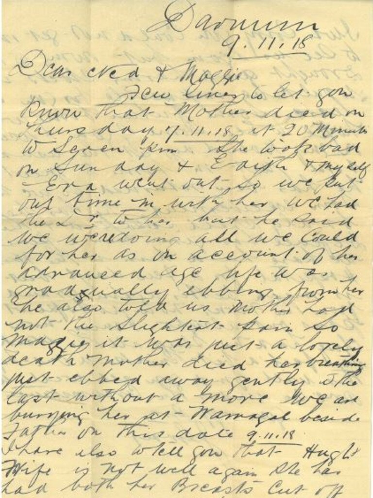 An letter dated November 9, 1918 Mayor Margaret Strelow found in an old book