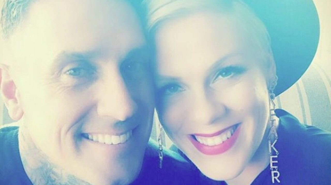 Pink, with husband Carey Hart, is stepping away from music to focus on her family. Picture: Instagram