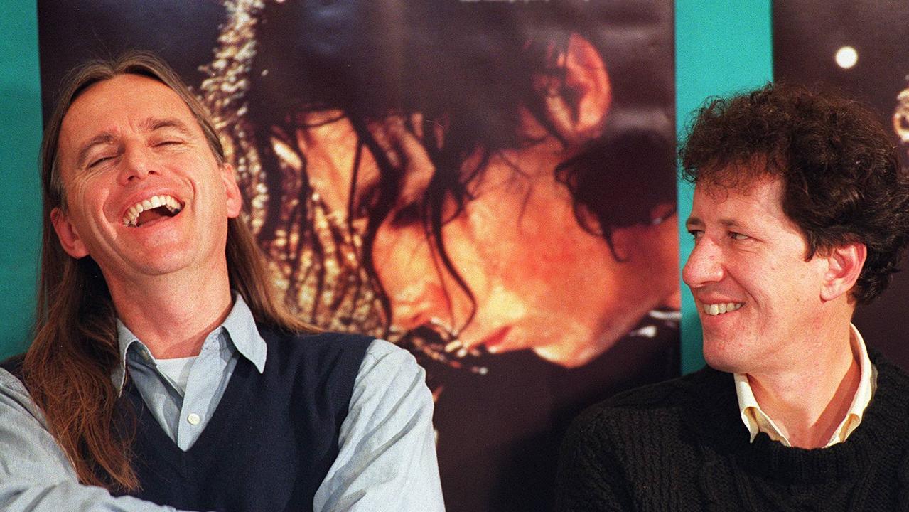 Shine director Scott Hicks with actor Geoffrey Rush.