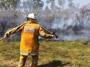 Crews monitor Cooroibah blaze