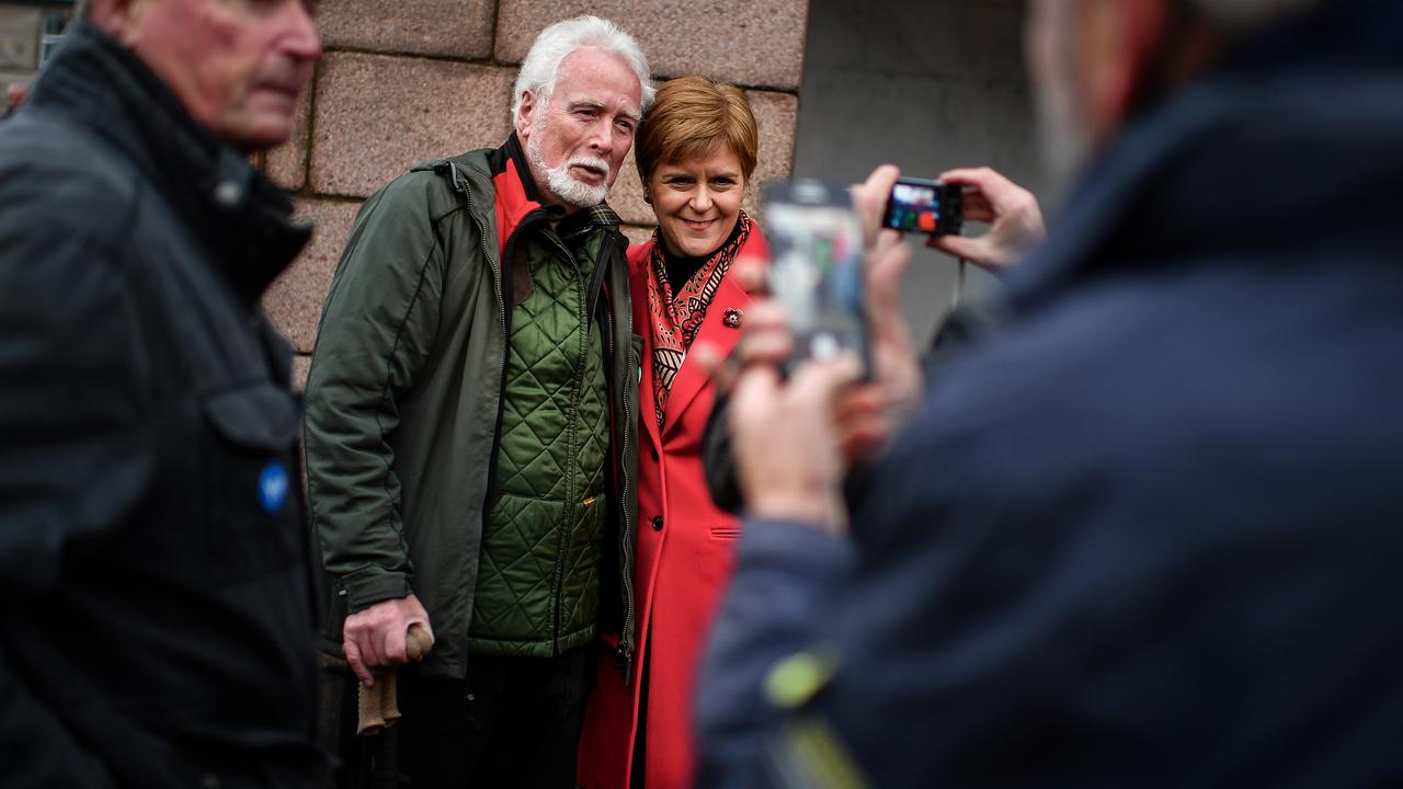 First Minister Nicola Sturgeon, campaigns with SNP general election candidate for Aberdeenshire West and Kincardine constituency Fergus Much. Picture: Jeff J Mitchell/Getty