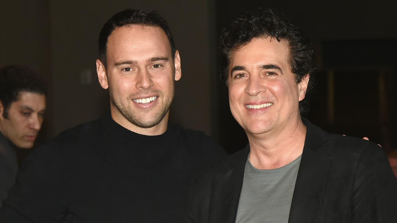 Scooter Braun (Left) and CEO of Big Machine Records Scott Borchetta (r). Picture: Getty