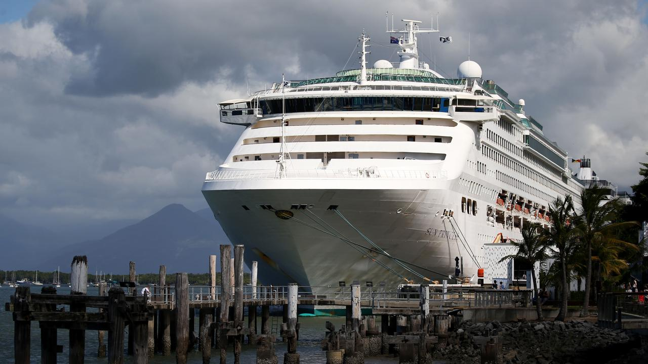 The Sun Princess has been hit with an outbreak of gastro. Picture: STEWART McLEAN
