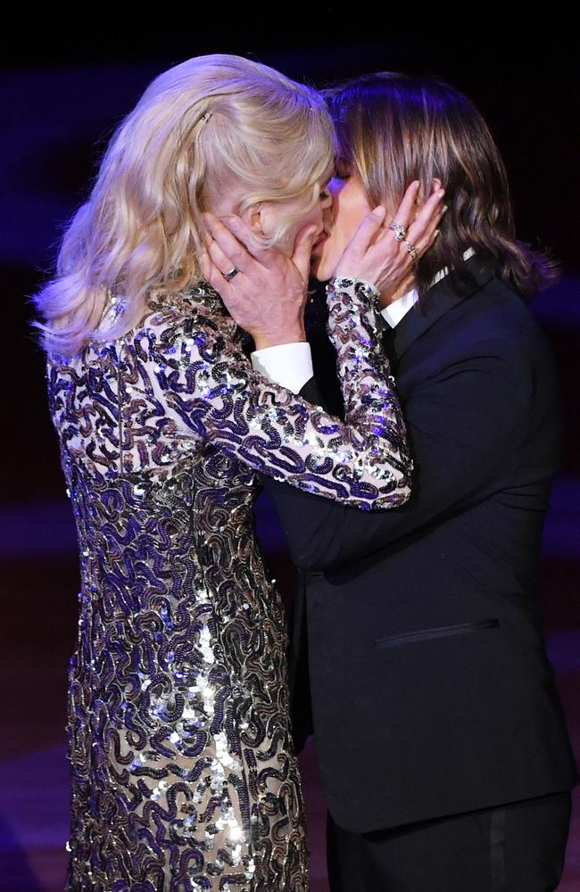 That's one way to prove you're still together. Picture: Mike Coppola/Getty Images for Lincoln Centre