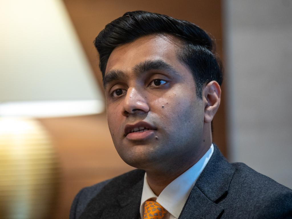 Adani Ports CEO Karan Adani at the company's Ahmedabad headquarters. Picture: Cameron Laird