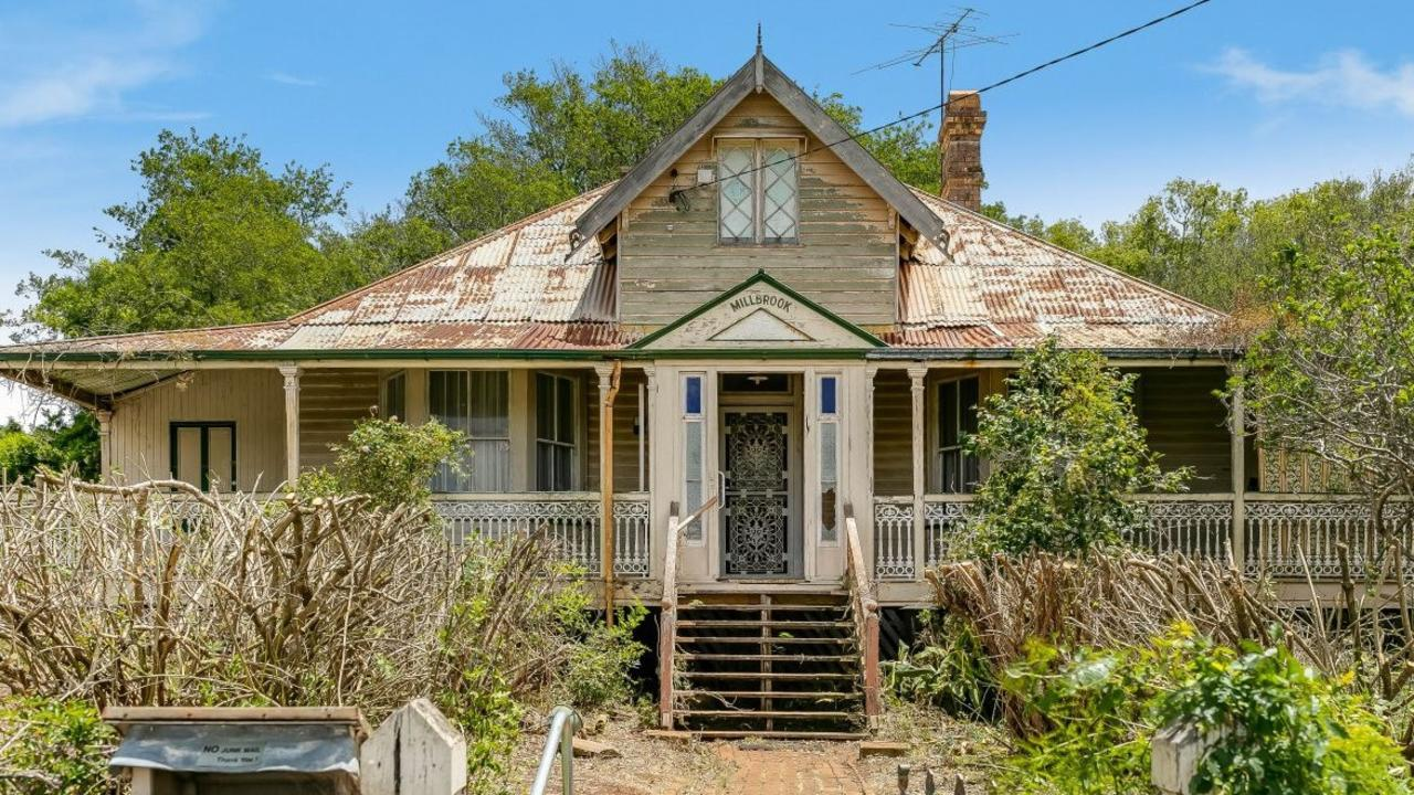 Millbrook, the home William Henry Groom, Toowoomba's first mayor and the first Toowoomba member of the Queensland Legislative Assembly, was listed for sale.