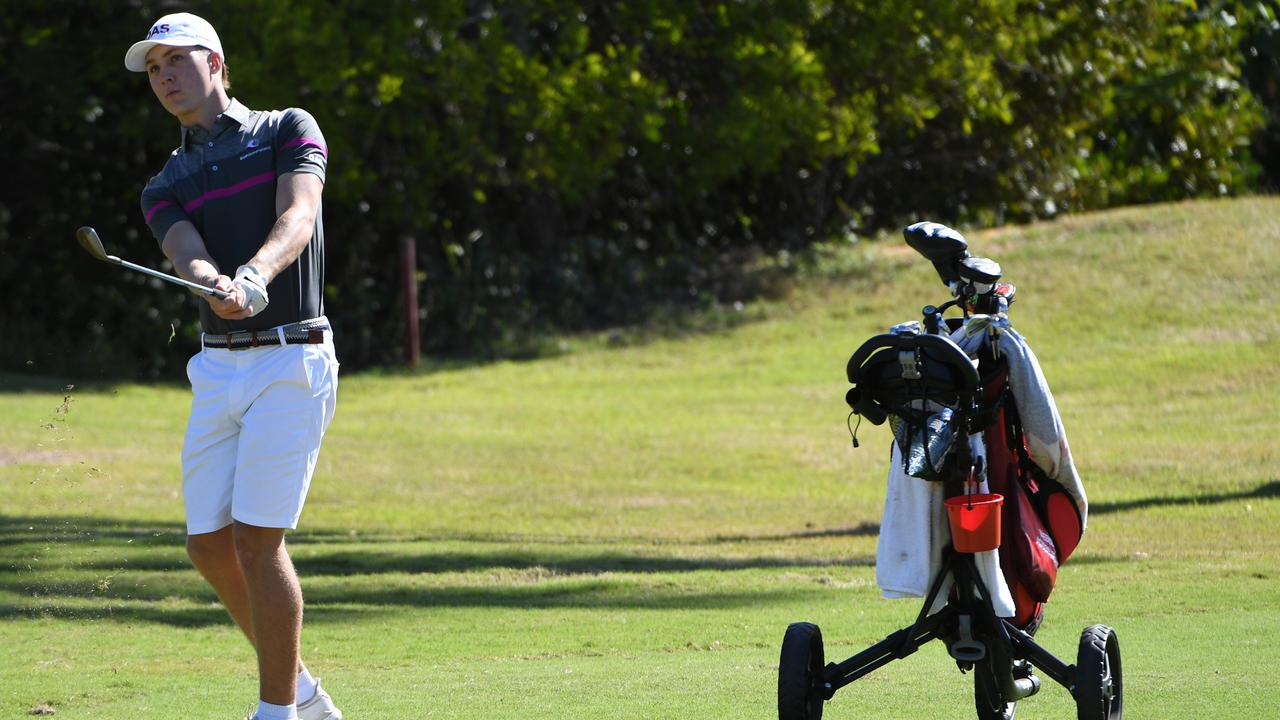 IN REACH: Promising Brookwater golfer Louis Dobbelaar will try to qualify for the 2019 Emirates Australian Open.