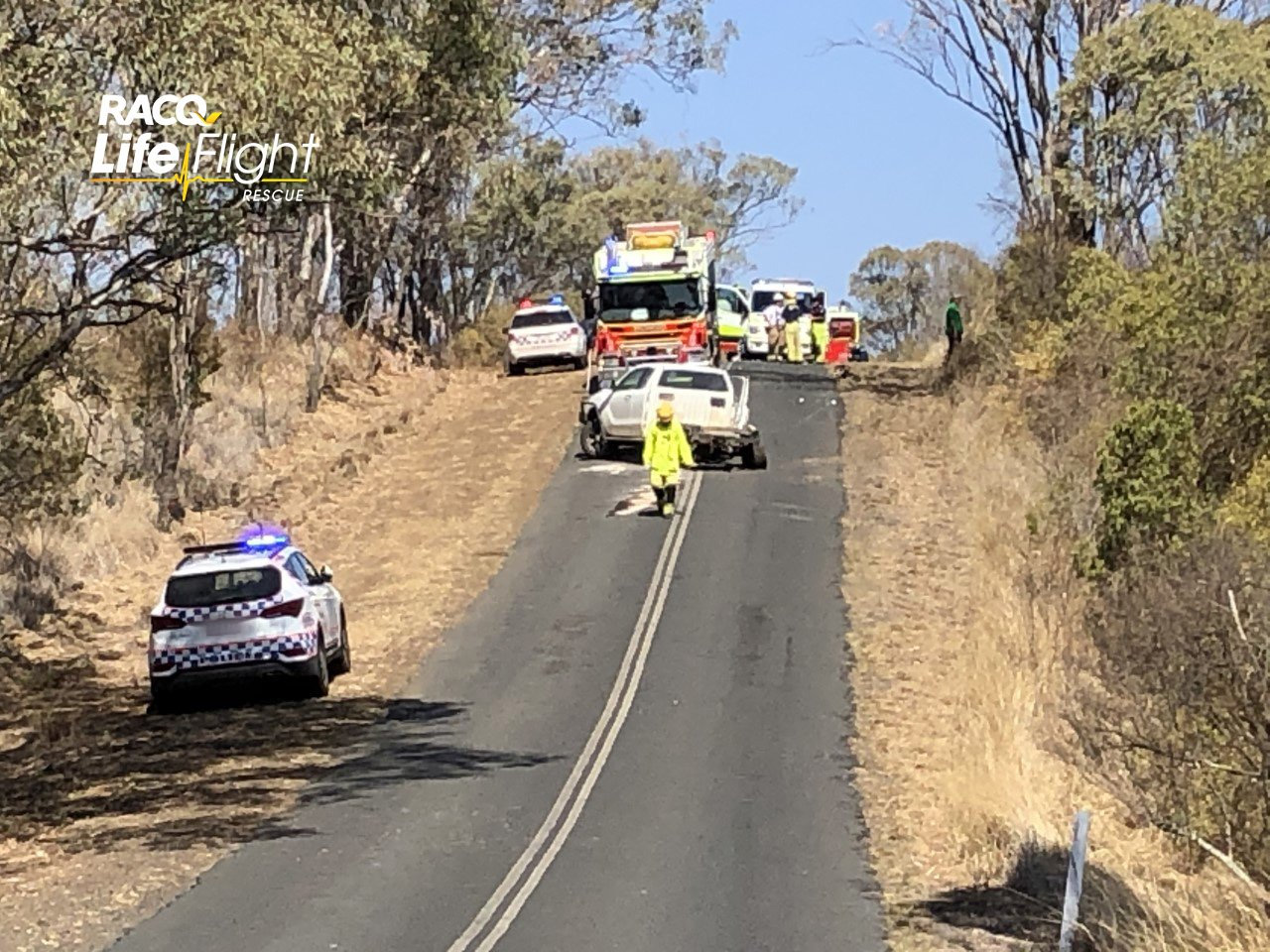 The Toowoomba LifeFlight Surat Gas Aeromedical Service (SGAS) Rescue helicopter airlifted a teenage driver, after his car collided with another, north west of Toowoomba, early this morning. (Sat 16th)