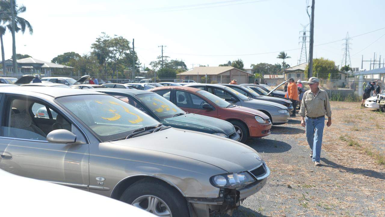 At the public viewing potential buyers were able to inspect 55 abandoned vehicles, which will be auctioned off at Mackay Regional Council's Ness Street Depot.