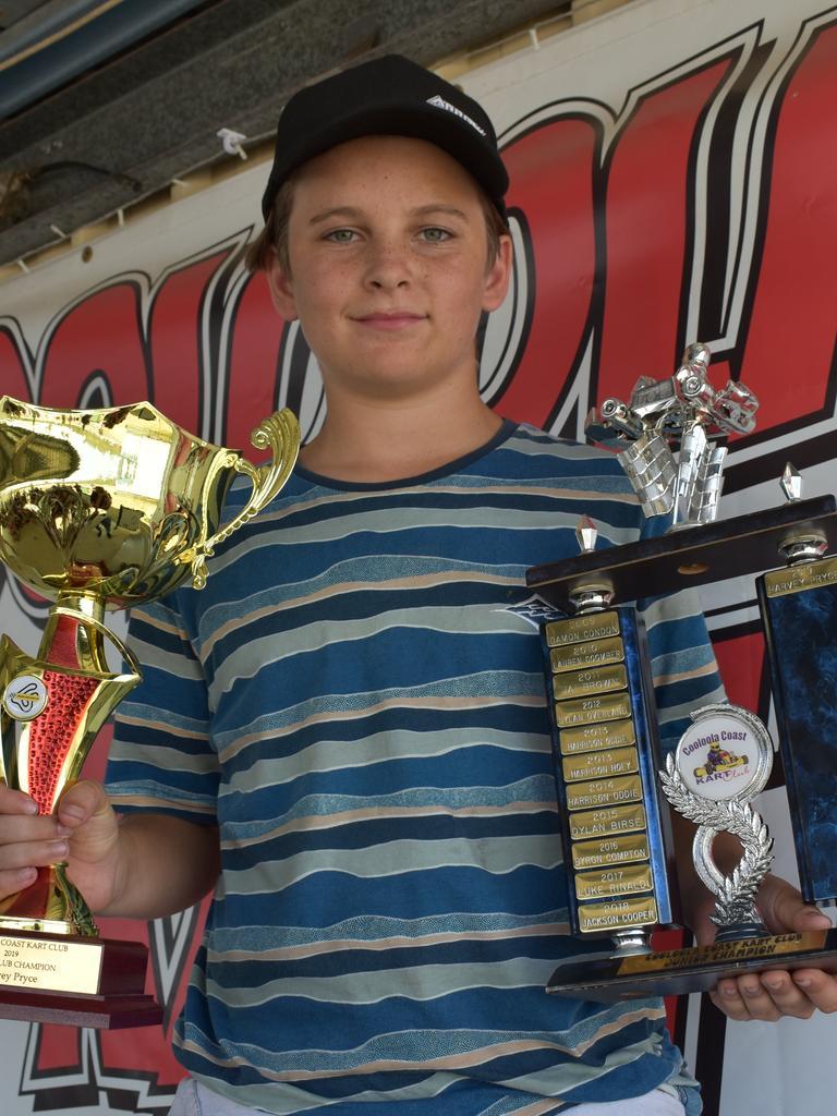 Cooloola Coast Kart Club presentation 2019 - Junior Club Champion Harvey Pryce. Photos Bec Singh