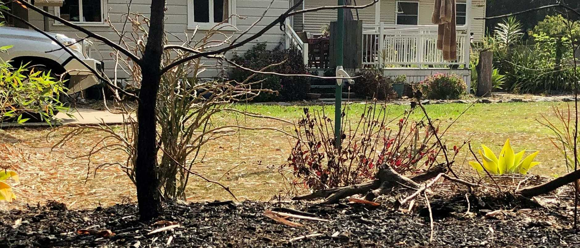 The fire burnt extremely close to the Blake's house.