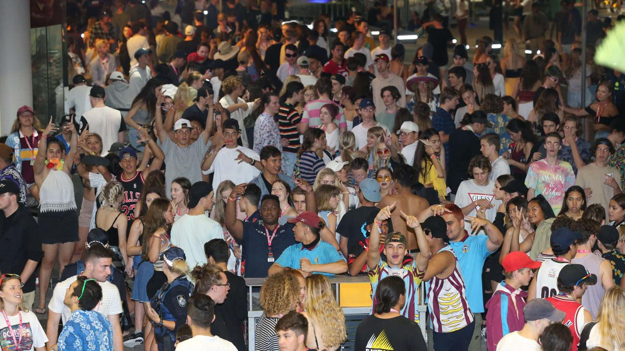 Isn't three nights enough for Schoolies? Picture: Mike Batterham.