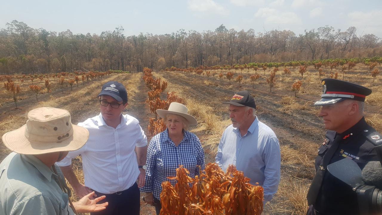 FIRE GROUND: Mango farmer Robert Sike explains how his family weathered the weekend firestorm in Bungundarra.