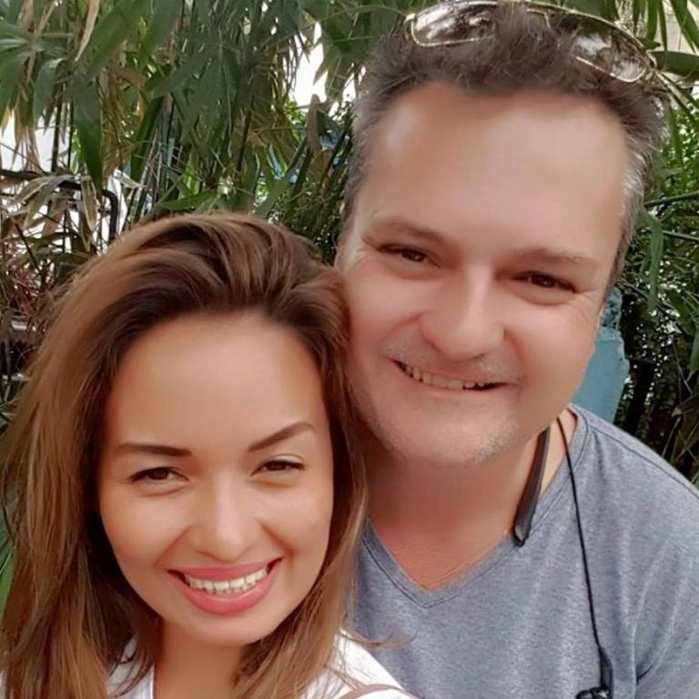 Jason Madden with his wife Helen, in the Philippines. Picture: Supplied