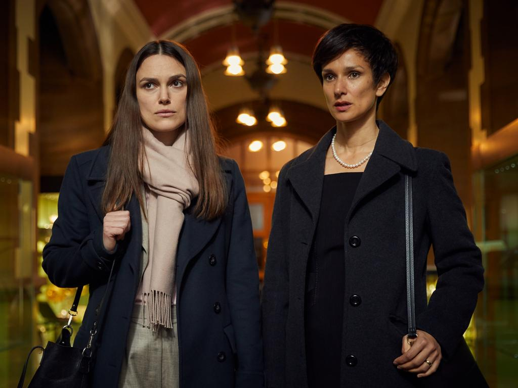 Knightley and Indira Varma star in Official Secrets. Picture: Universal Pictures