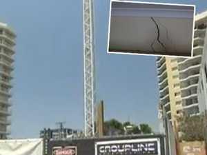 PICS SHOW DANGER: Builder suspended over units' deep cracks