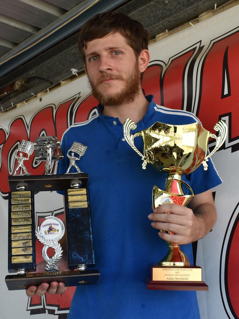 Cooloola Coast Kart Club presentation 2019 - Senior Club Champion Adam Strohfeldt. Photos Bec Singh