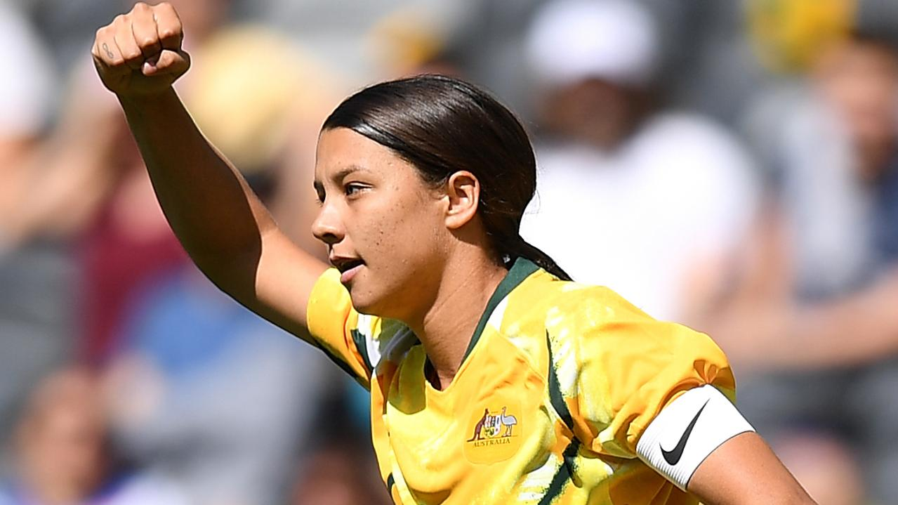 Kerr is the face of the Matildas. Picture: AAP