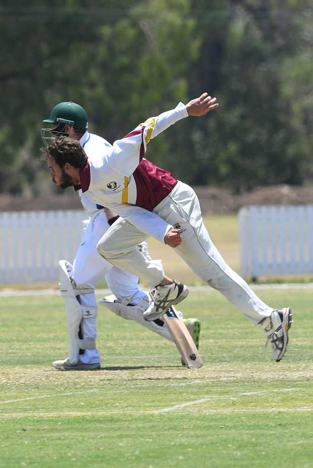 Image for sale: CRICKET CQ CHAMPIONSHIPS: Central Highlands' Damon Gale bowls