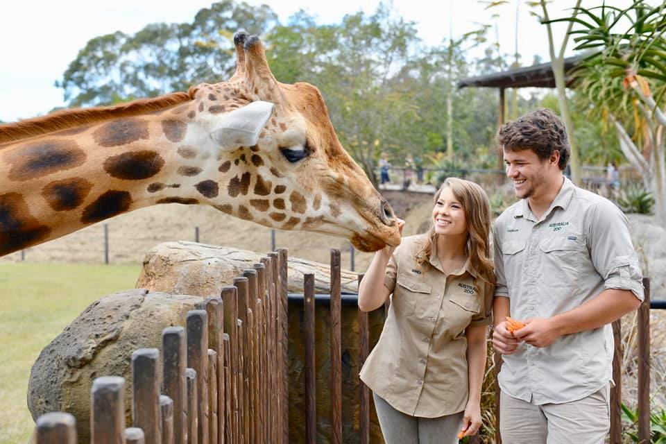 Bindi Irwin enjoyed the day with fiancee Chandler Powell at Steve Irwin Day at Australia Zoo.