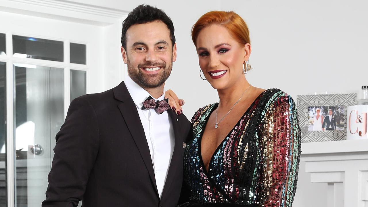 Married At First Sight stars Jules and Cam tie the knot in Sydney. Picture: David Swift.